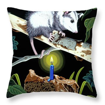Birthday Surprise Throw Pillow