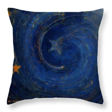 Birthed In Stars Throw Pillow