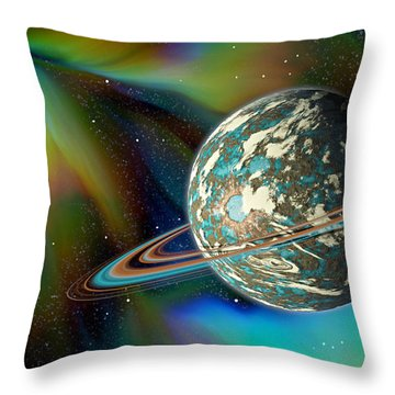 Birthing Planet Throw Pillow
