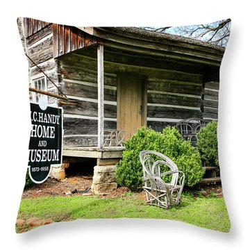 Birthplace Of Wc Handy Throw Pillow