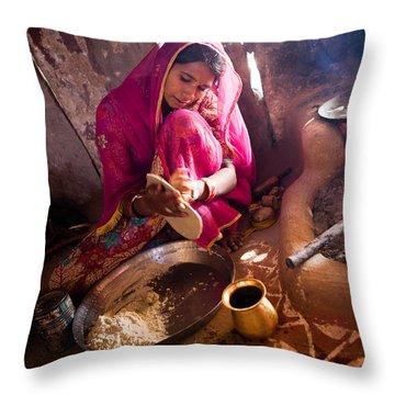 Bishnoi Kitchen Throw Pillow