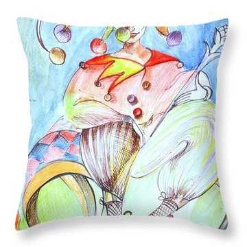 Chess Art. White Bishop.chess Piece. History Of Chess Map  Throw Pillow