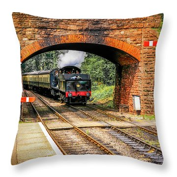 Bishops Lydeard Station, Uk Throw Pillow