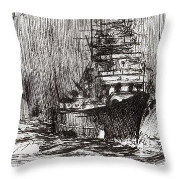 Bismarck Off Greenland Throw Pillow