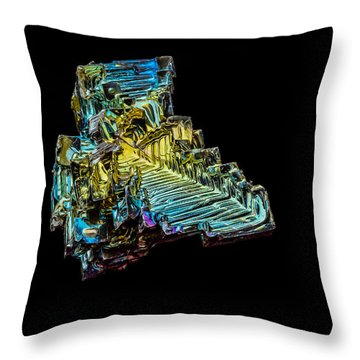 Bismuth Crystal Throw Pillow
