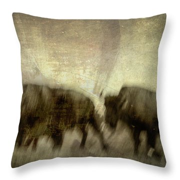 Throw Pillow featuring the photograph Bison 3 by Joye Ardyn Durham