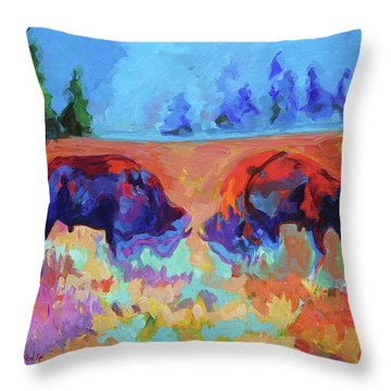 Bison Contest Throw Pillow