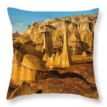 Bisti Badlands Fantasy Throw Pillow by Alan Vance Ley
