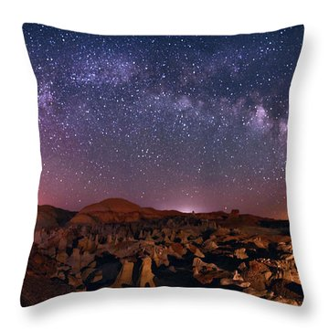 Bisti Badlands Night Sky - 2 Throw Pillow