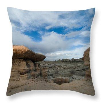 Bisti Fissure New Mexico Throw Pillow by Steve Gadomski