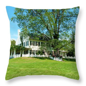Bit O Nh History Throw Pillow by Greg Fortier