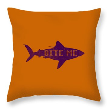 Bite Me Throw Pillow by Michelle Calkins
