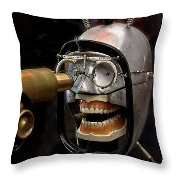 Bite The Bullet - Steampunk Throw Pillow by Betty Denise