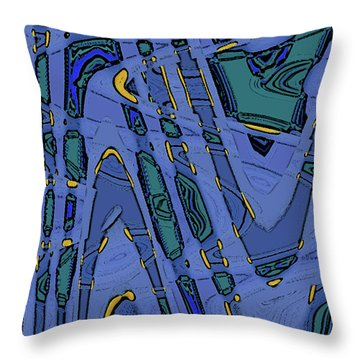 Bits And Pieces - Cool Throw Pillow by Ben and Raisa Gertsberg