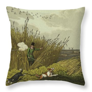 Bittern Shooting Throw Pillow