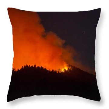Bitterroot Forest Fire Throw Pillow