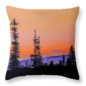 Bitterroot Mountain Range Throw Pillow