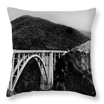 Bixby Bridge - Big Sur - California Throw Pillow