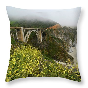 Bixby Bridge Throw Pillow by Harry Spitz