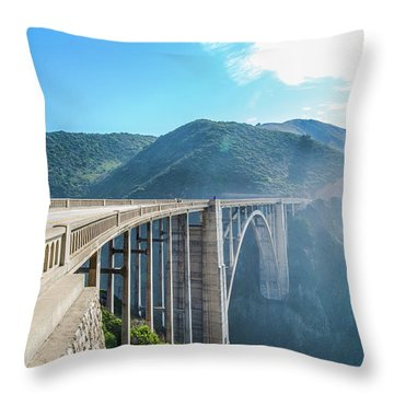 Throw Pillow featuring the photograph Bixby Bridge,big Sur by Jingjits Photography