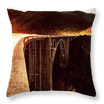 Bixby Creek Bridge, California Throw Pillow
