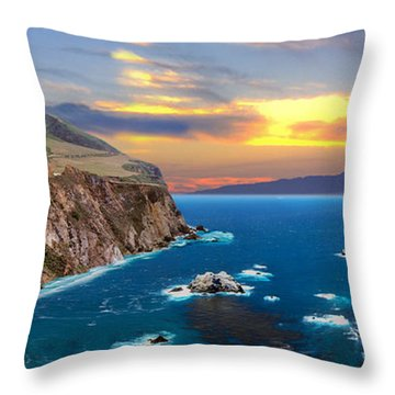 Throw Pillow featuring the photograph Bixby Creek Bridge by David Zanzinger