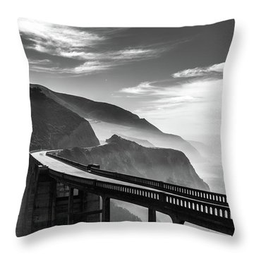 Throw Pillow featuring the photograph Bixby Creek Bridge,big Sur by Jingjits Photography