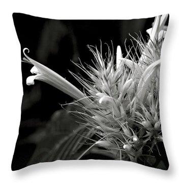 Bizarre Flower Charm Throw Pillow