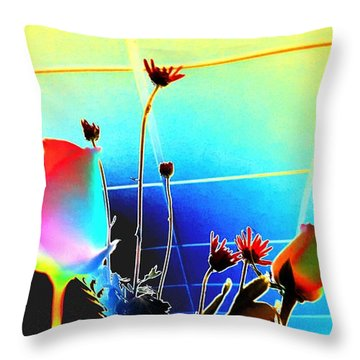 Bizarre Rising Throw Pillow