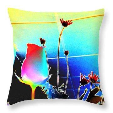 Bizarre Rising Throw Pillow