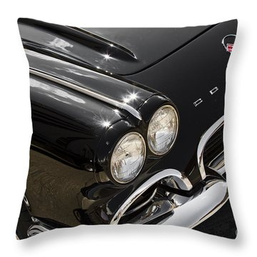 Black '62 Throw Pillow by Dennis Hedberg