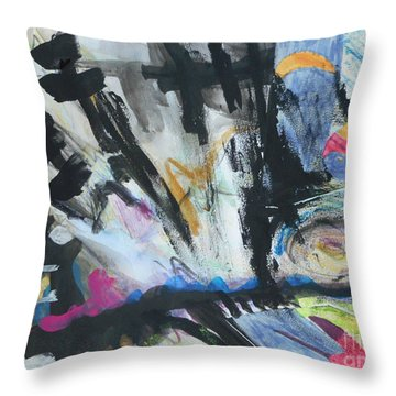 Black Abstract Throw Pillow