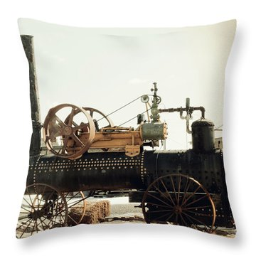 Black And Glorious Steam Machine Throw Pillow