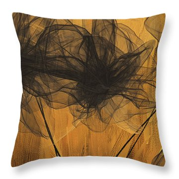 Throw Pillow featuring the painting Black And Gold Abstract Art by Lourry Legarde