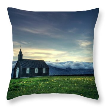 Throw Pillow featuring the photograph Black And Isolated by Peter Thoeny