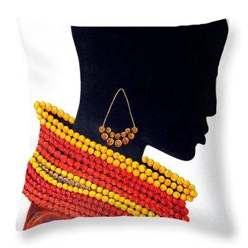 Black And Red - Original Artwork Throw Pillow