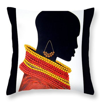 Black And Red - Original Artwork Throw Pillow