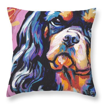Black And Tan Cav Throw Pillow by Lea S