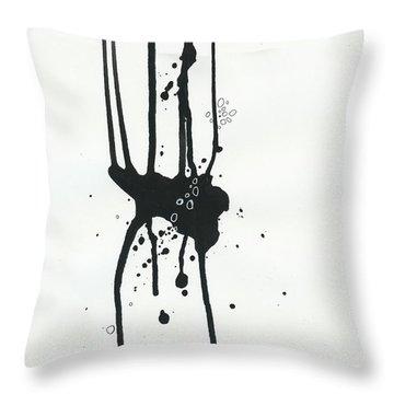 Black And White # 17 Throw Pillow