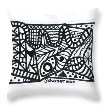 Black And White 1 Throw Pillow