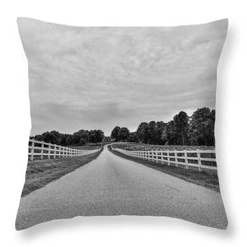 Black And White 134 Throw Pillow