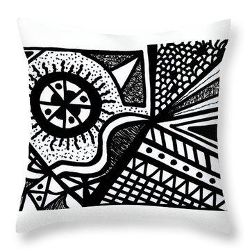Black And White 14 Throw Pillow