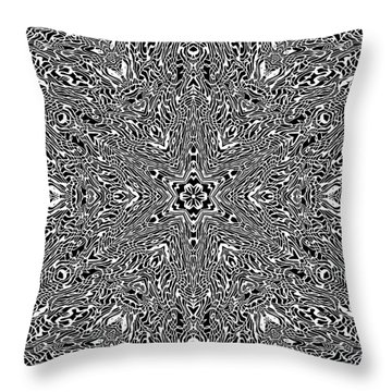 Throw Pillow featuring the digital art Black And  White 24 by Robert Thalmeier