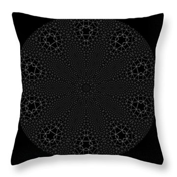 Throw Pillow featuring the digital art Black And White 3 by Robert Thalmeier