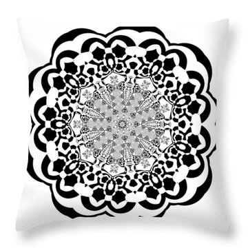 Throw Pillow featuring the digital art Black And White 4 by Robert Thalmeier
