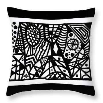 Black And White 6 Throw Pillow