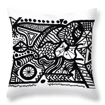 Black And White 7 Throw Pillow