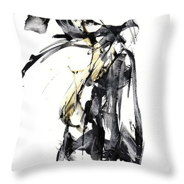 Black And White Abstract Expressionism Series 7344.072009 Throw Pillow
