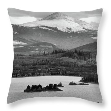 Throw Pillow featuring the photograph Black And White Breckenridge by Dan Sproul