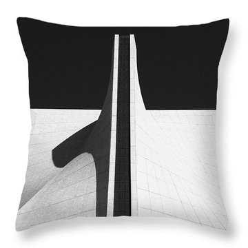 Throw Pillow featuring the photograph Black And White Building by MGL Meiklejohn Graphics Licensing